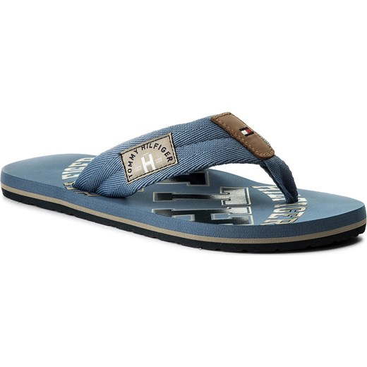 94743f33d5860 Japonki TOMMY HILFIGER - Essential Th Beach Sandal FM0FM01369 Jeans 013 Tommy  Hilfiger niebieski 40 eobuwie
