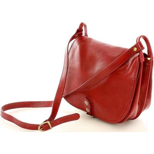 e2fdca1334120 ... MICHELLE Duża torebka włoska na długim pasku Czerwona czerwony Vera  Pelle One Size promocja merg.