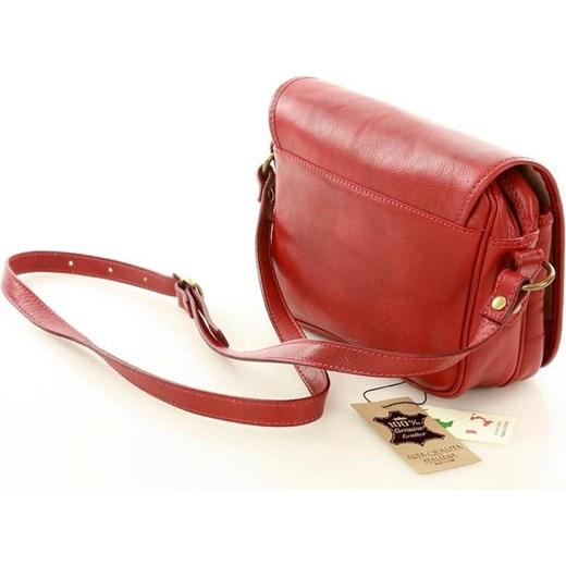 67bec6fa803d7 DESTINY - Włoska torebka na długim pasku MAZZINI czerwona czerwony Mazzini  One Size promocja merg.