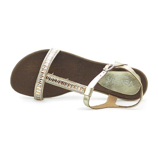06823b1adbb4d ... Sandały Venezia 2453 LAM PLAT Złote Venezia szary okazyjna cena  Arturo-obuwie. Zobacz: Venezia
