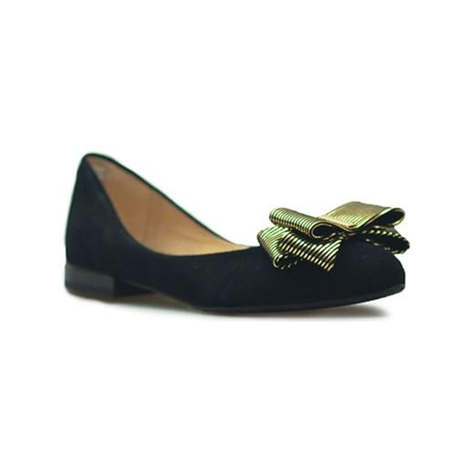 6b991d96f5f6 Baleriny Eksbut 28-4910-136 K41 Czarne zamsz Eksbut Arturo-obuwie ...