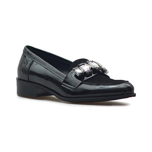 e1ea9c521ab87 Półbuty Sagan 2835 Czarne lakier/welur Sagan czarny Arturo-obuwie ...