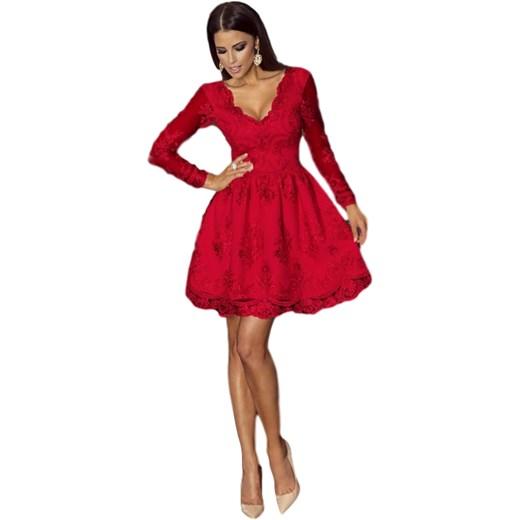 6b793aa1 Sukienka koronkowa czerwona glamour Nowy Producent Yasmine