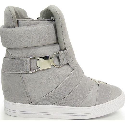 342d658e Sneakersy Na Koturnie szary Lubiebuty w Domodi