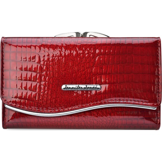 6b4255e28a4fa Lakierowany portfel damski skórzana portmonetka na bigiel – czerwony  Jennifer Jones world-style.pl ...