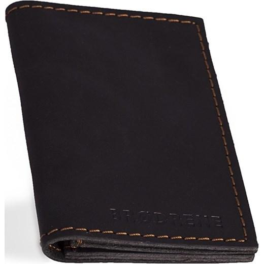 2ba28018e4153 Skórzany cienki portfel slim wallet BRODRENE SW03 czarny Brødrene  Skorzana.com ...