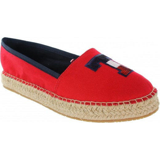 e8e8689c08695 ... Sequins Espadrille FW0FW02412 Tango Red 611 Tommy Hilfiger 41 Ego ...