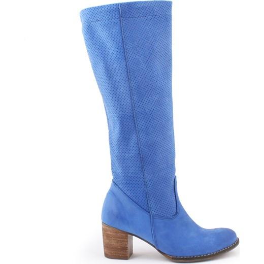 c3f99a891cdc4 kozaki - skóra naturalna model 155 kolor szafir niebieski Zapato zapato .com.pl