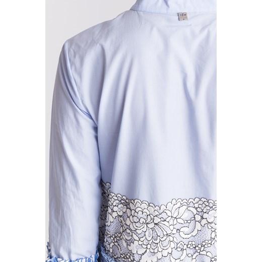 0ca9c38e8c ... Niebieska sukienka My Twin z biało-czarną koronką Twinset S Velpa.pl ...