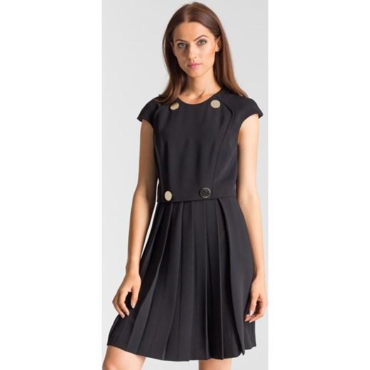 f20d2d8fa9 ... Czarna sukienka z plisowanym dołem Versace Collection 40 Velpa.pl ...