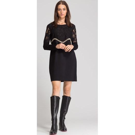 4ab7e47d713e0 ... Czarne skórzane kozaki z różową podeszwą Armani Jeans 39 Velpa.pl ...