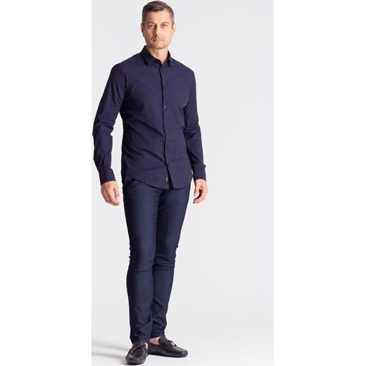 0d0d999c9009e6 ... Granatowa koszula męska ze wzorem Armani Jeans M Velpa.pl ...
