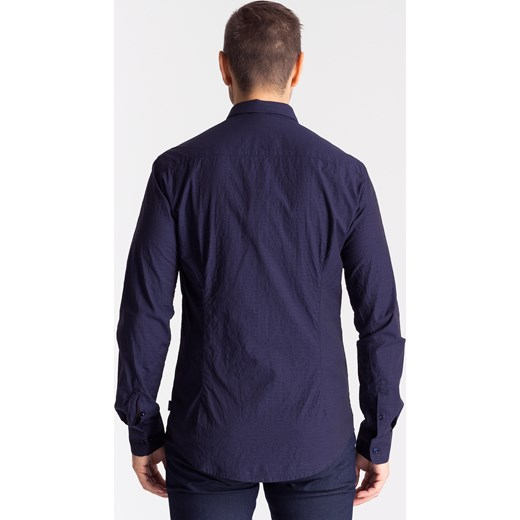 8b10aaa28f2efe Granatowa koszula męska ze wzorem Armani Jeans Velpa.pl w Domodi