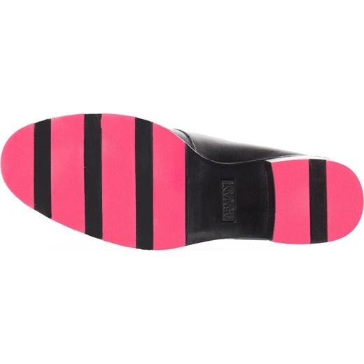 0e50da945c001 ... Czarne skórzane botki na obcasie z różową podeszwą Armani Jeans 37  Velpa.pl ...