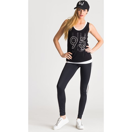 Czarne legginsy damskie z siatką Liu Jo Sport Velpa.pl w Domodi 66df42ce6f5