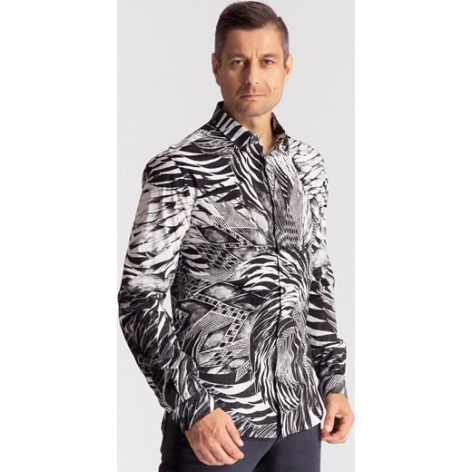 36297ee90 Bawełniana koszula męska slim fit szary Just Cavalli 54 Velpa.pl ...