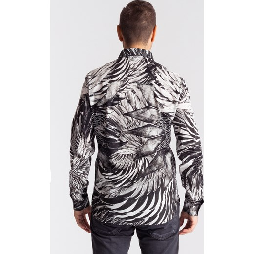 b093b70ab ... Bawełniana koszula męska slim fit Just Cavalli szary 54 Velpa.pl ...