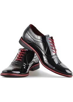 Pantofle Pan 726 Czarny Lakier arturo-obuwie czarny elegancki - kod rabatowy
