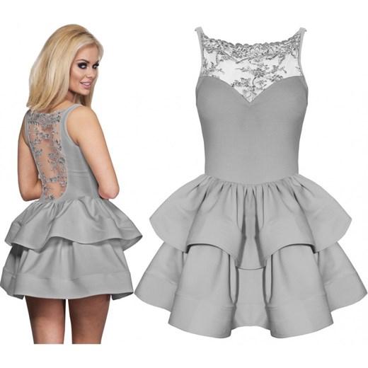 a553bf81 Modna rozkloszowana sukienka z dekoltem na plecach -AGNES magmac.pl