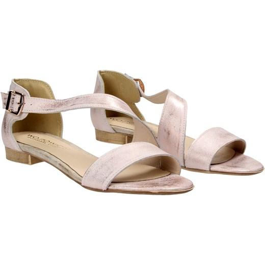 Sandały Damskie Awangarda Bezowy Różowe Wojtowicz Shoes lcTK1J3uF