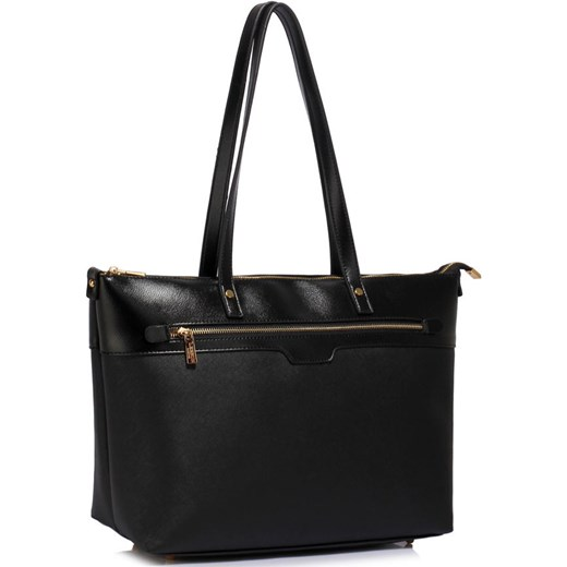 529270a08f37e Duża czarna klasyczna torebka na ramię Evangarda.pl w Domodi