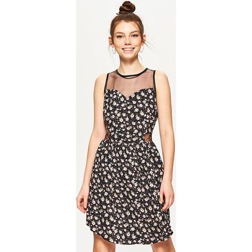 a9c75c53a6 Cropp - Sukienka z wiskozy - Czarny bezowy Cropp XL ...