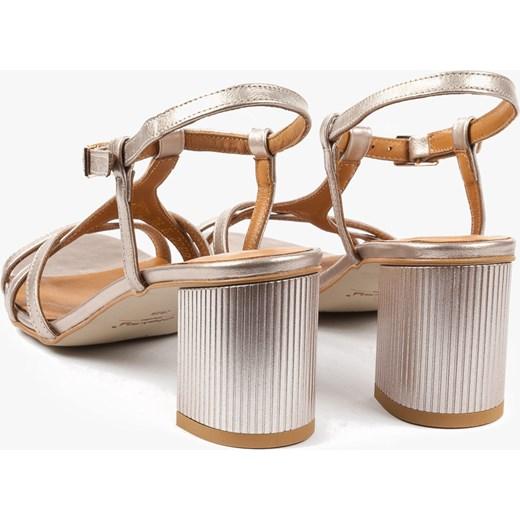 9cf581f3e014e Złote sandały damskie 2288 C04 Oleksy bezowy - producent .