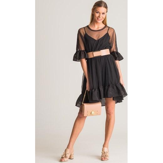 9466f2bb72 Czarna sukienka Twinset My Twin z falbaną Twinset L Velpa.pl ...