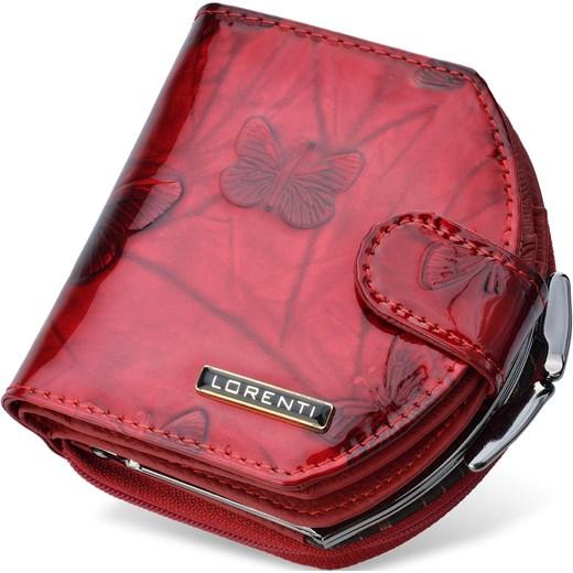 13a6b698ad1d1 ... Lakierowany portfel damski lorenti podkówka bigiel motylki – czerwony  Lorenti world-style.pl ...
