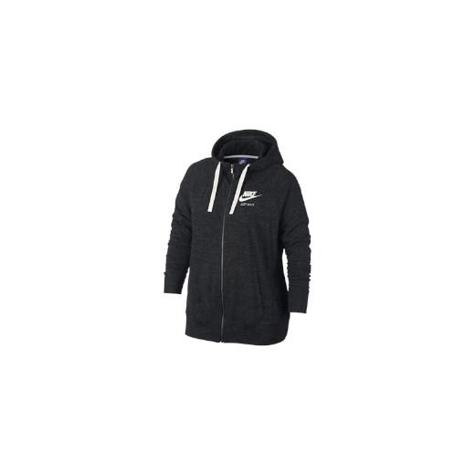 5ff3e30f1c90cb Damska rozpinana bluza z kapturem Nike Sportswear Gym Vintage (duże  rozmiary) - Czerń czarny