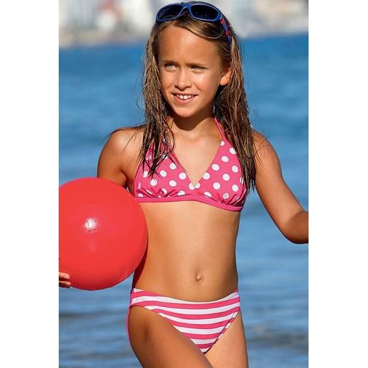 6fc375d5aebc75 Dziewczęcy kostium kąpielowy Dot DP2 różowy Lorin Astratex w Domodi