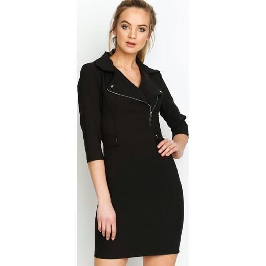 8512f7d358 Czarna Sukienka Rider s Girl bezowy Renee odzież w Domodi