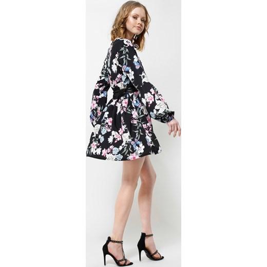 7cd0067963 Czarna Sukienka Lilies Flames Renee uniwersalny Renee odzież ...