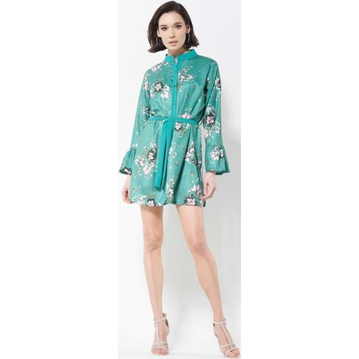 0f865d90e2 Zielona Sukienka Letters For You turkusowy Renee odzież w Domodi