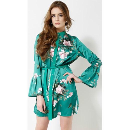 15d37ffada Zielona Sukienka Scientist turkusowy Renee uniwersalny Renee odzież ...