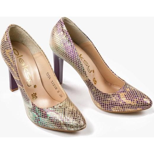 fa2f30f911560 ... Wielokolorowe czółenka damskie 1954/A17 Oleksy 37 Oleksy - producent  obuwia wyprzedaż ...