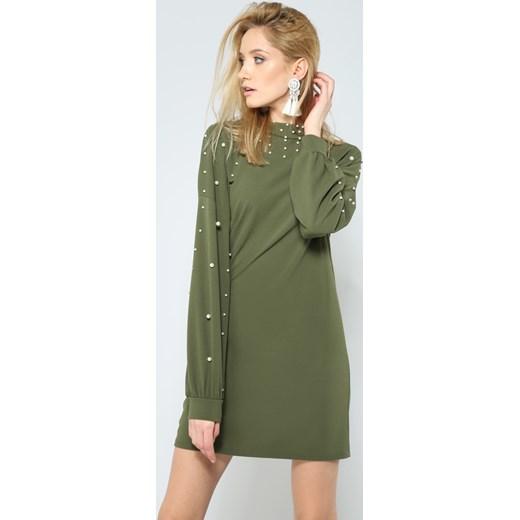 40a2761764 Zielona Sukienka Night Pearl Renee uniwersalny Renee odzież ...