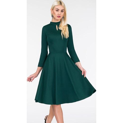 237ab849 Sukienka ADEL Midi Butelkowa Zieleń Livia Clue zielony