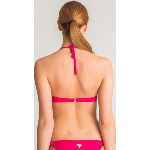0ccc91e7474654 Różowo-biała góra od bikini Twinset U&B z kokardą bezowy Velpa.pl w ...