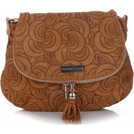3cb9c5b77d444 Modna Torebka Listonoszka Skórzana Vittoria Gotti Made in Italy Ruda  brazowy Genuine Leather PaniTorbalska ...