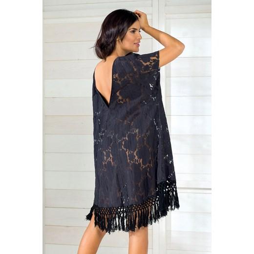 0102c9f7e0 Włoska sukienka letnia marki Iconique IC8011 Black czarny szary Astratex