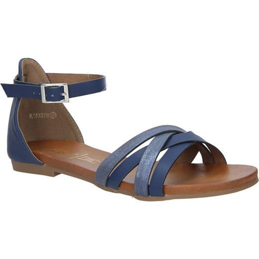 fd93d1ea776715 Granatowe eleganckie sandały z zakrytą piętą Casu K18X9/N Casu.pl w Domodi