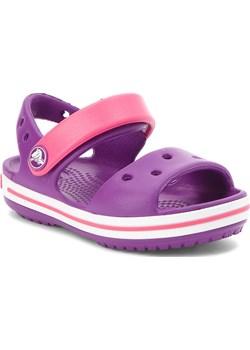 Sandały CROCS - Crocband Sandal Kids 12856 Amethyst/Paradise Pink Crocs fioletowy eobuwie.pl - kod rabatowy