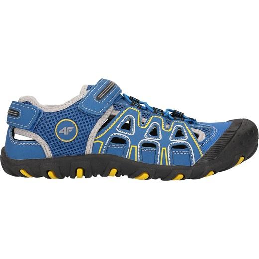 d1ca670d Sandały dla dużych chłopców JSAM201 - NIEBIESKI niebieski 4f Junior 4F