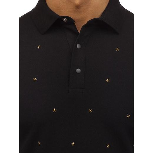 fe6956c59 ... Koszulka polo męska czarna Denley 2056 Denley.pl L Denley promocyjna  cena ...