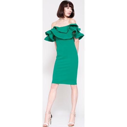 401f0ce11a Zielona Sukienka Love Them Renee uniwersalny Renee odzież ...