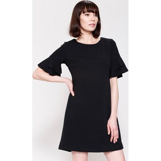 343f2cb290 Czarna Sukienka Back To Piano Renee XL Renee odzież ...