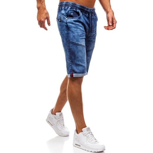 f324fee17a324 ... Krótkie spodenki jeansowe męskie granatowe Denley HY251 Denley.pl M  wyprzedaż Denley