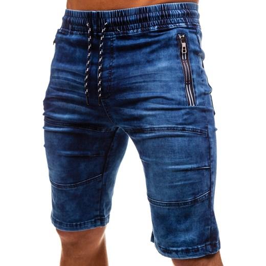 7f99a374faad1 ... Krótkie spodenki jeansowe męskie granatowe Denley HY186 Denley.pl M  okazja Denley ...