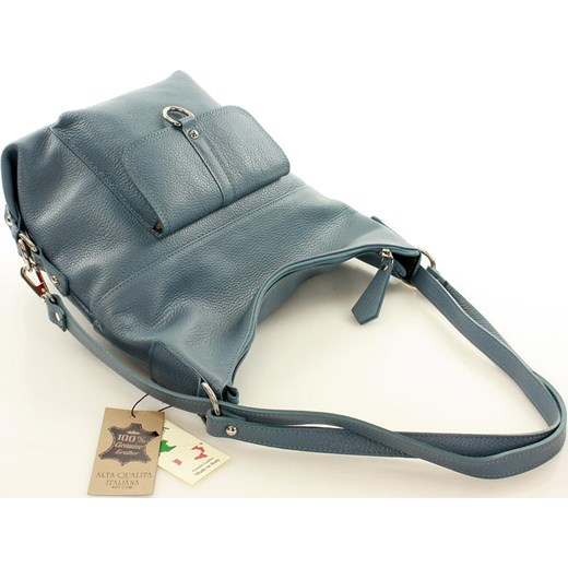 38382ed5dc859 ... Torebka - plecak ze skóry naturalnej MAZZINI - Alessia jeans denim  Mazzini Verostilo okazyjna cena. Zobacz  Mazzini